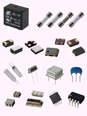 رله، فیوز، کریستال، IC و قطعات SMD