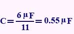 مثال برای ظرفیت خازن معادل در سری بستن خازنها