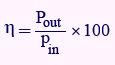 فرمول محاسبه راندمان ترانس