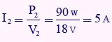 مثال برای توان ثانویه ترانس
