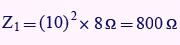 مثال برای محاسبه امپدانس ورودی