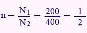 مثال برای نسبت دور ترانس