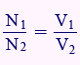 نسبت دورهای ترانس متناسب است با نسبت ولتاژهای دو سر ترانس