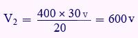 مثال برای بدست آوردن ولتاژ ثانویه ترانس
