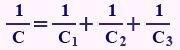فرمول محاسبه ظرفیت خازن معادل در سری بستن خازنها