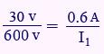مثال برای محاسبه جریان اولیه ترانس