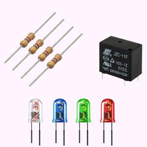 مقاومت الکتریکی، رله و LED